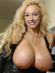 Hot lesbo action with 4 unreal sized tits!